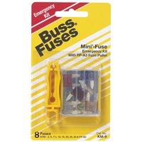 Bussmann KM-9 Emergency Automotive Fuse Kit, 9 Pieces, 32 VDC, 1 KA