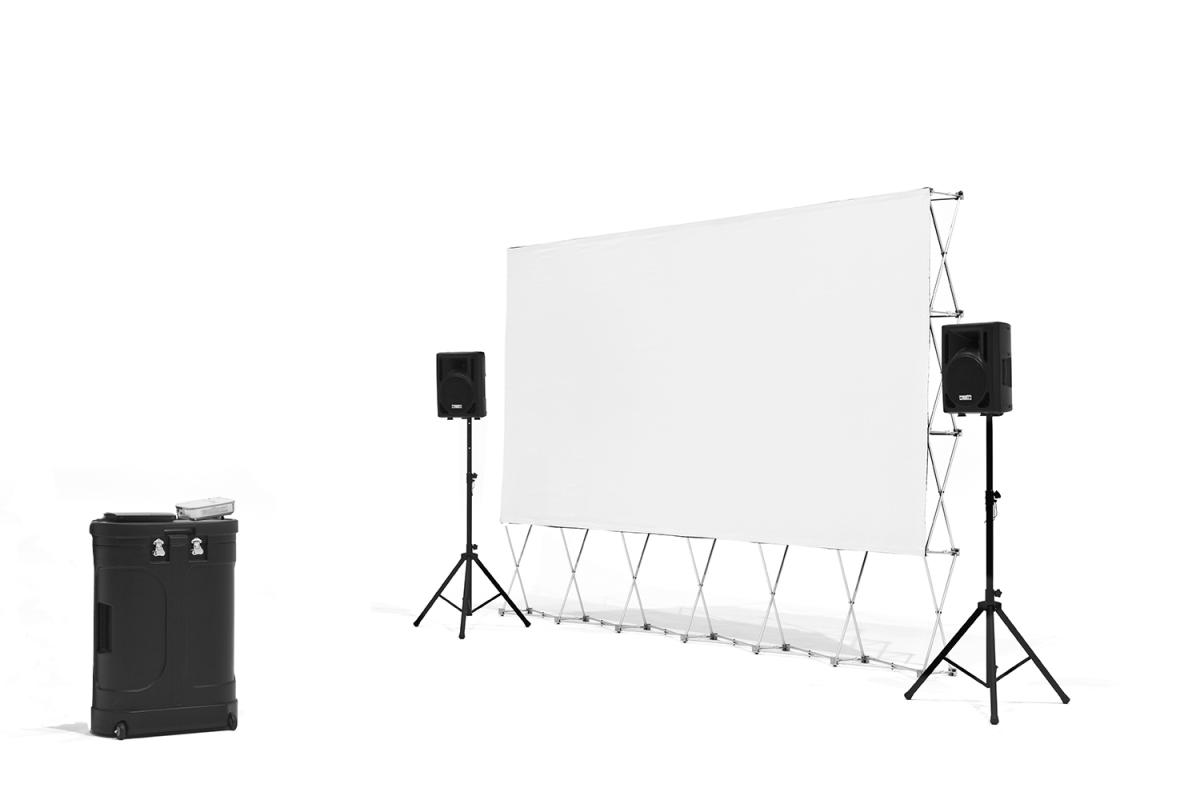 16' Quickscreen Series w/Optoma 720p projector