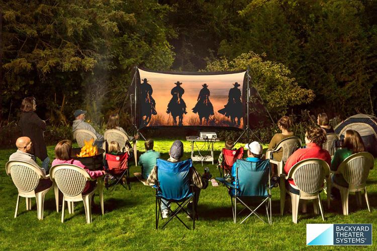 Backyard Theater Systems 11' Recreation Series w/Savi 720p Projector