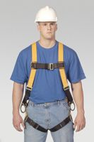 Miller+ Universal Size Titan T-Flex+ Stretchable Polyester Full Body Harness With Back And Side D-Rings, Matting Should Strap &