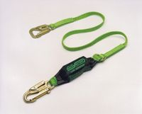 Miller+ 6' Lime Green Backbiter+ Shock-Absorbing Tie-Back Lanyard With 5,000 Pound Locking Snap Hook And One Locking Snap Hook A