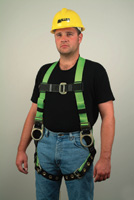 Miller+ HP Series Non-Stretch Iron Workers Full Body Harness With Back And Side D-Rings, Tongue Buckle Leg Straps, Tool Belt Loo