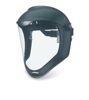 Uvex+ Bionic+ Black Matte Dual Position Headgear With Clear Anit-Fog Hardcoatd Polycarbonate Faceshield And Built-In Chin Guard