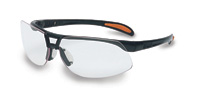 Bacou-Dalloz Uvex+ By Sperian Protege+ Safety Glasses With Metallic Black Frame And Clear Polycarbonate Ultra-dura+ Anti-Scratch Hard Coat Le at Sears.com