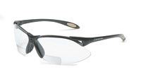 Sperian A900 Series Reading Magnifier 2.0 Diopter Safety Glasses With Black Frame And Clear Polycarbonate Anti-Scratch Hard Coat