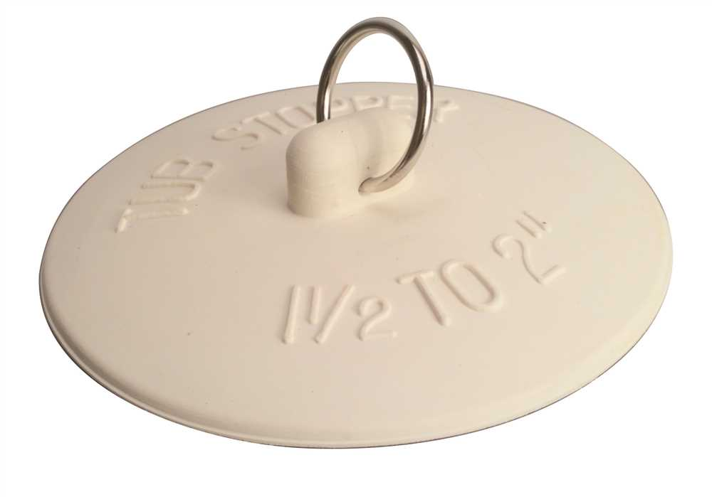 FIT-ALL RUBBER BATHTUB STOPPER, 1-1/2 IN. TO 2 IN., WHITE, PACK OF 6