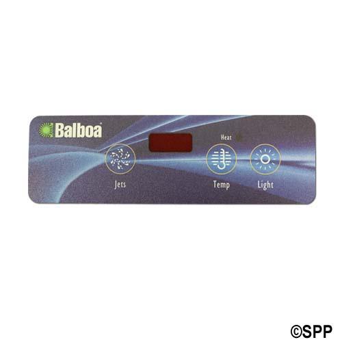 Overlay, Spaside, Balboa VL403, Lite Duplex, 3-Button, Jets-Temp-Light, For 54105
