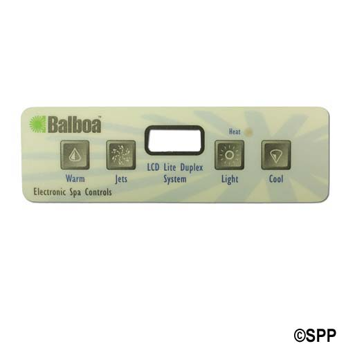 Overlay, Spaside, Balboa Icon15 VL401, Lite Duplex, 4-Button, Up-Jets-Light-Down, For 52424