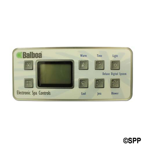 Spaside Control, Balboa Serial Deluxe, 8-Button, LCD, Jet1-Blower