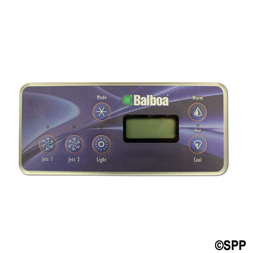 Spaside Control, Balboa VL701S, Serial Standard, LCD, 6-Button, Mode-Up, Pump1-Pump2-Light-DN