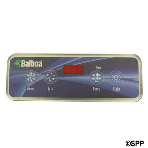 Spaside Control, Balboa VL403, Lite Duplex, 4-Button, LED, Blower-Jets-Temp-Light