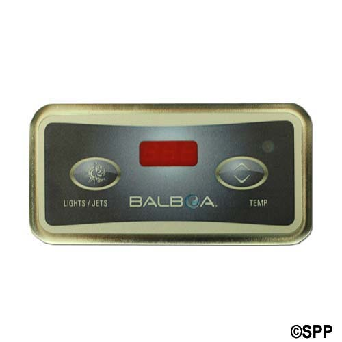 Spaside Control, Balboa Lite Digital, 2-Button, LED, Light/Jet-Temp, 6 Pin Phone Cable