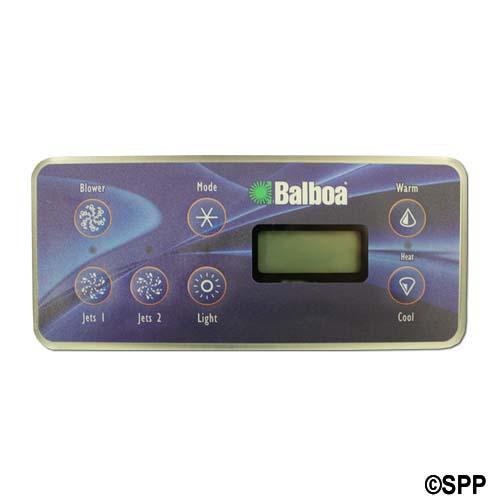 Spaside Control, Balboa VL701S, Serial Standard, LCD, 7-Button, Blower-Mode-Up, Pump1-Pump2-Light-DN