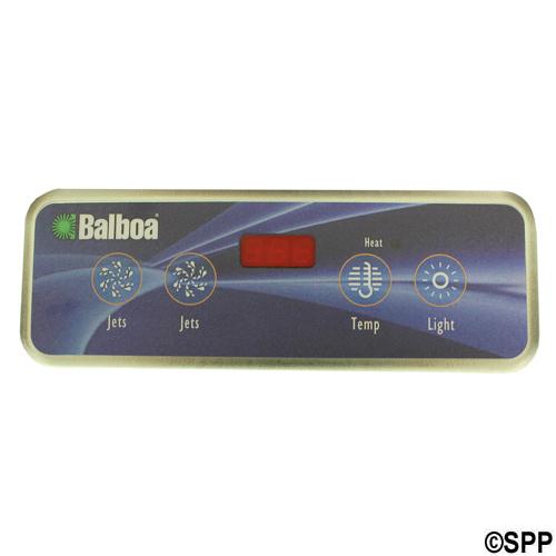 Spaside Control, Balboa VL403, Lite Duplex, 4-Button, LED, Jets-Jets-Temp-Light