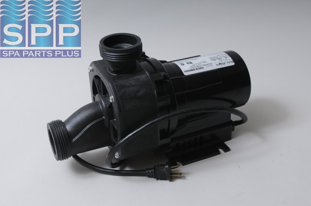 "Bath Pump, Balboa Gemini Plus II, 3/4HP, 115V, 8.5A, 1-1/2""MBT w/Air Switch & NEMA Cord"
