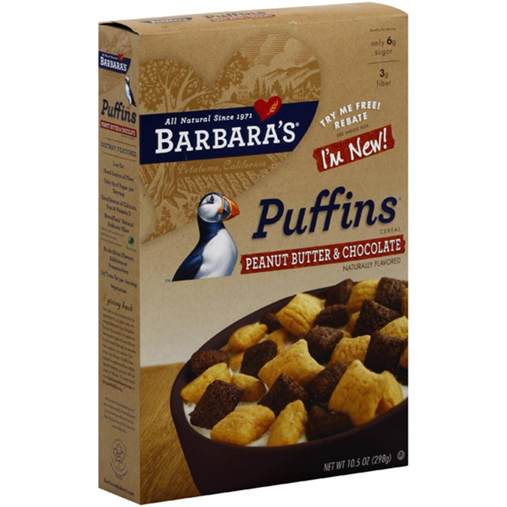 Barbara's Bakery - Peanut Butter & Chocolate Puffins ( 12 - 10.5 OZ)