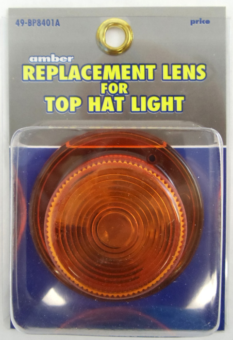 AMBER REPLACEMENT LENS/TOP HAT LIGHT