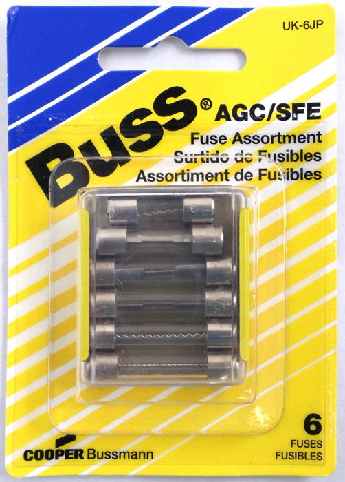 AMERICAN CAR GLASS FUSE ASST/ 5 PACK