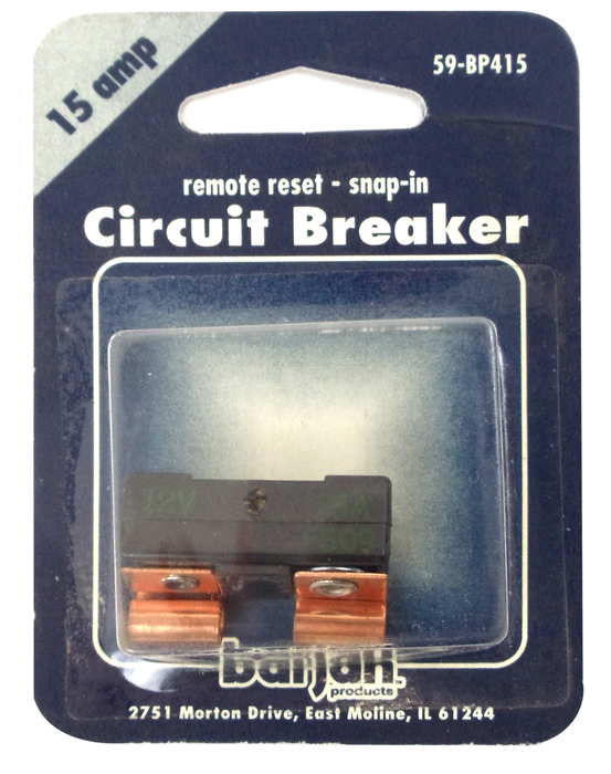 15 AMP GLASS TYPE CIRCUT BREAKER