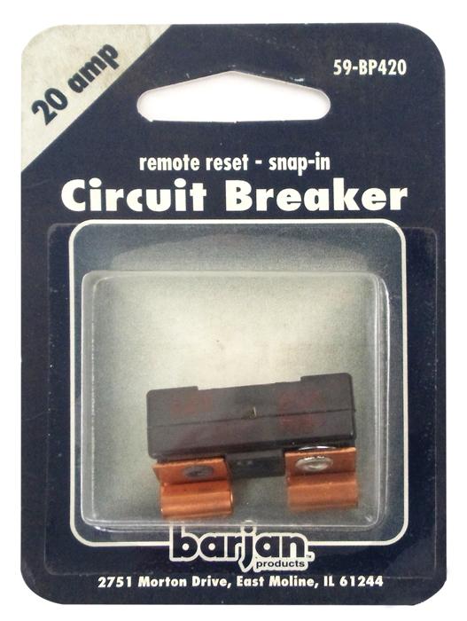 20 AMP GLASS TYPE CIRCUT BREAKER