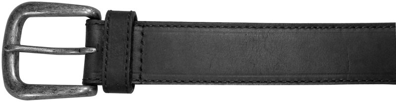 "42"" BLACK RUGGED CASUAL BELT, PLAIN"