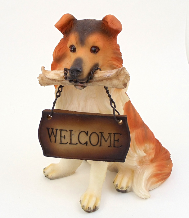 SMALL WELCOME DOG COLLIE