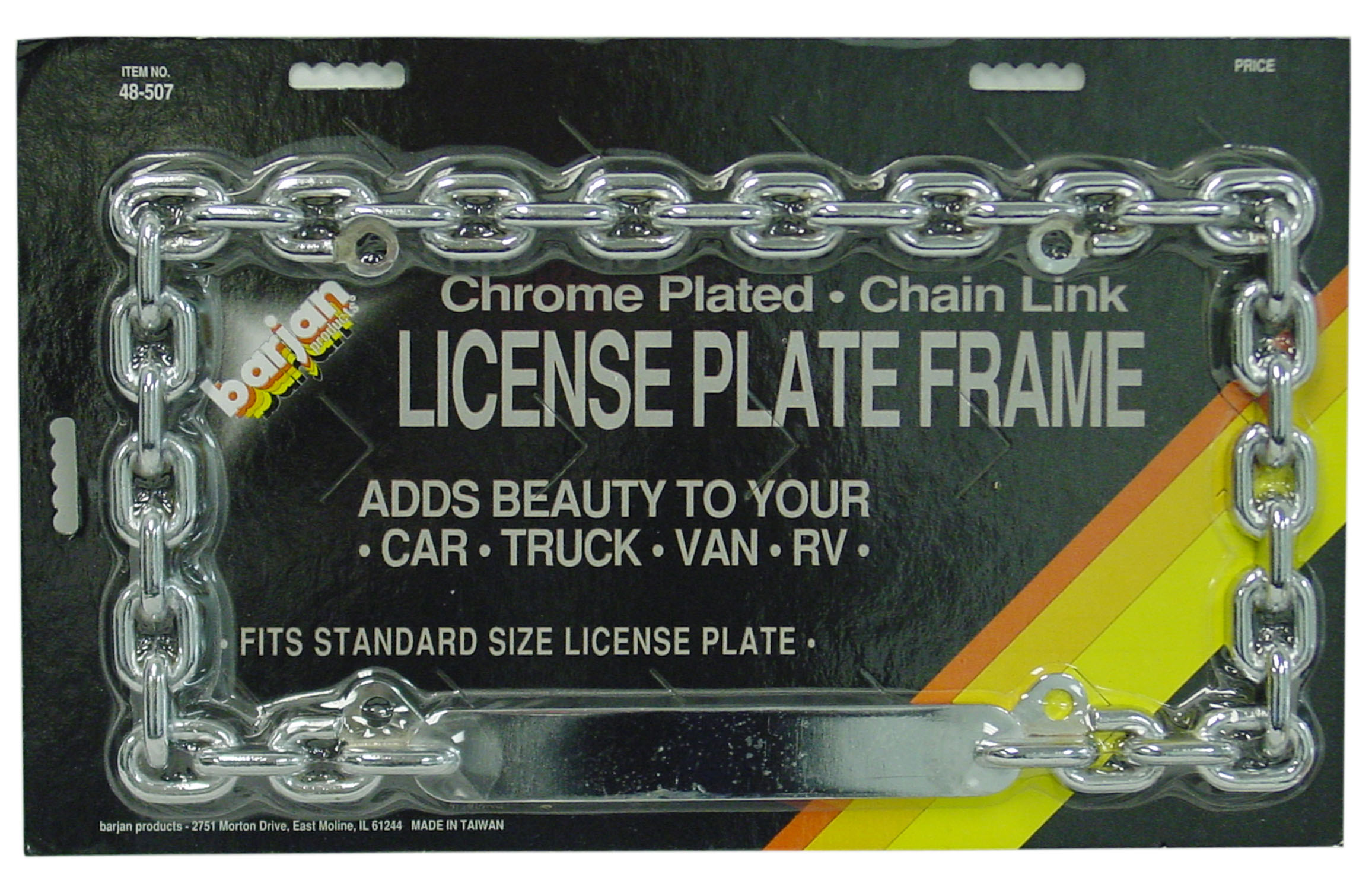 CHROME CHAIN LINK LICENSE FRAME