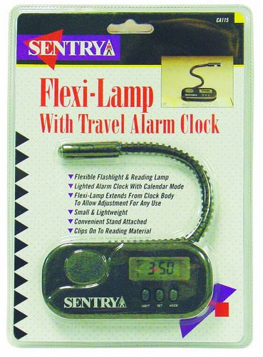 FLEX-LAMP W/TRAVEL ALARM CLOCK