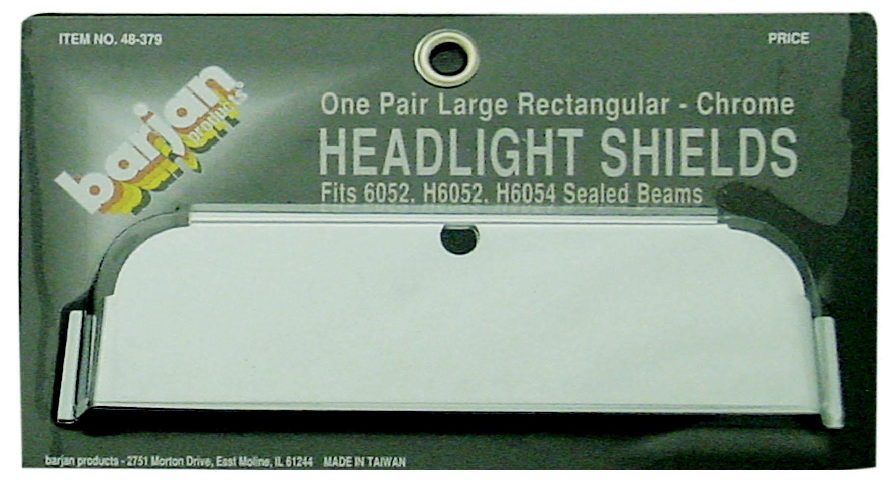 HEADLIGHT SHIELDS LG RECT 1/PR
