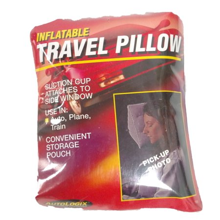 INFLATABLE TRAVEL PILLOW W/SUCTION CUP