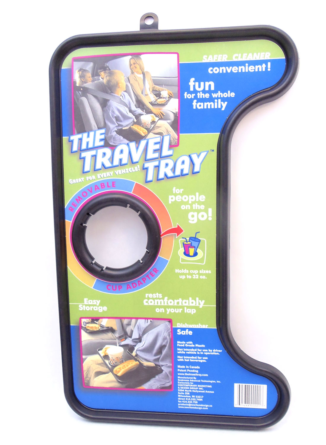 TRAVEL TRAY W/CUP HOLDER