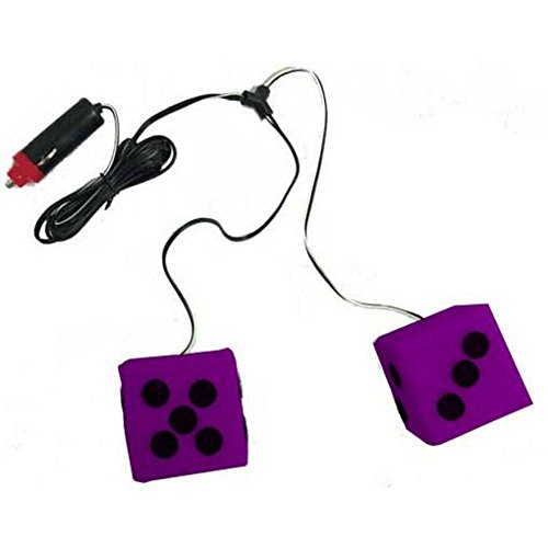 LITEGLOW PURPLE 12V LIGHT DICE