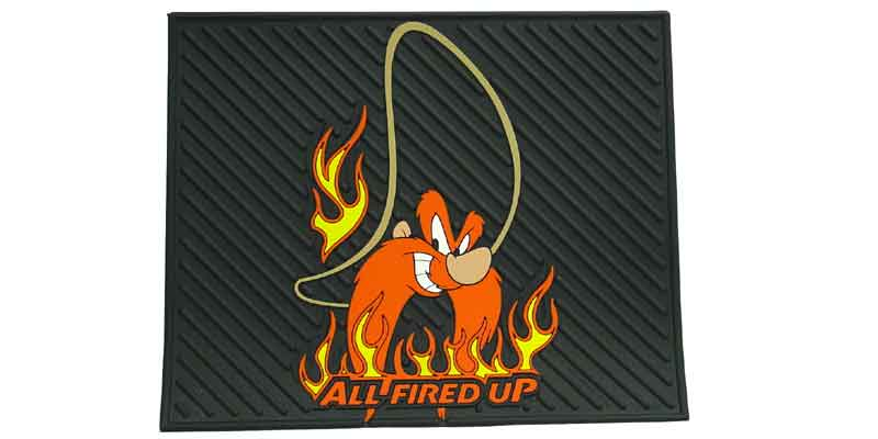 YOSEMITE SAM ALL FIRED UP RUBBER MAT