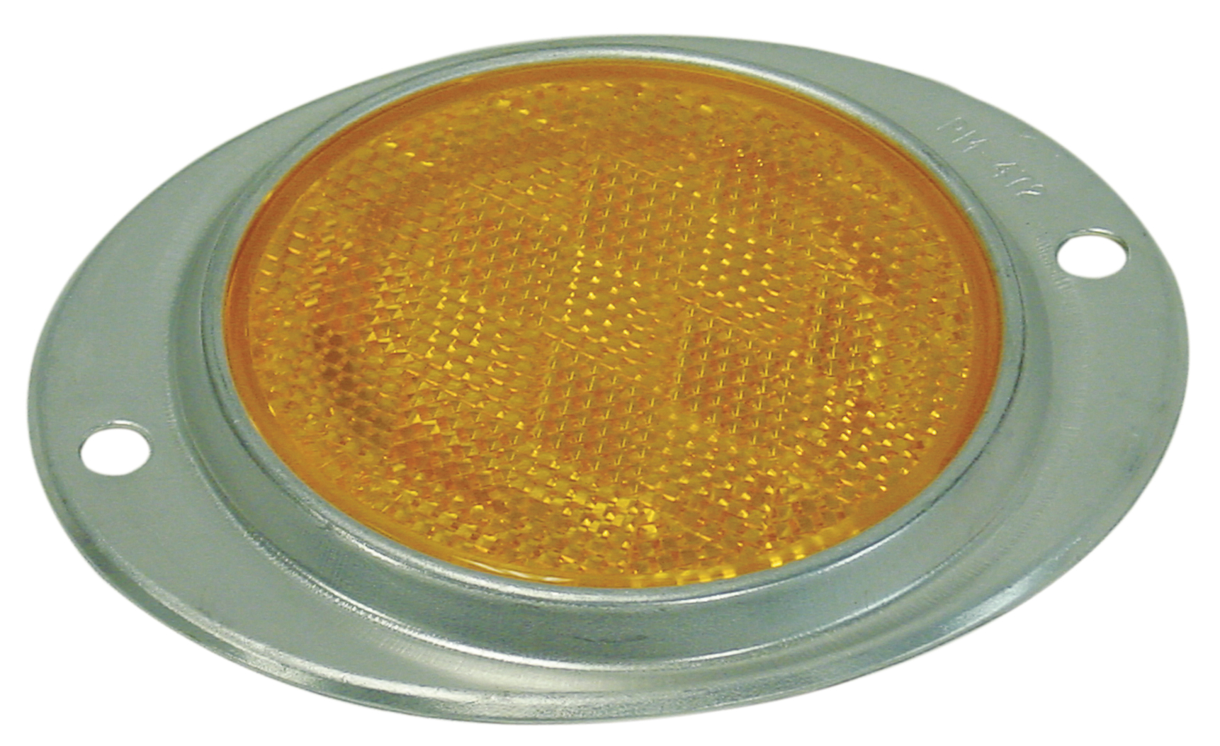 """3"""" AMBER STRATOLITE SAE-A NO.38 ALUMINUM OVAL REFLECTOR WITH TWO MOUNTING HOLES."""