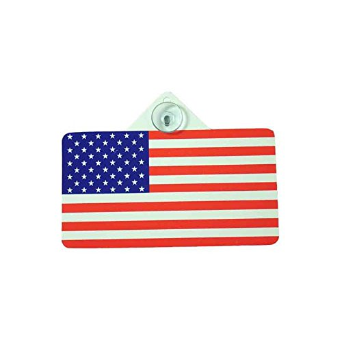 "5-1/2"" X 3"" AMERICAN FLAG WITH FRONTSIDE SUCTION CUP"