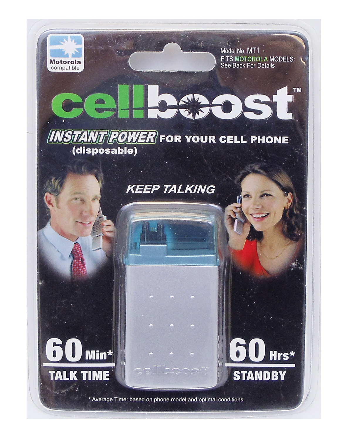 CELLBOOST - PROVIDES INSTANT POWER UP TO 60 MINUTES TALK TIME & 60 HOURS STANDBY FOR MOTOROLA AND OTHER T SERIES PHONES