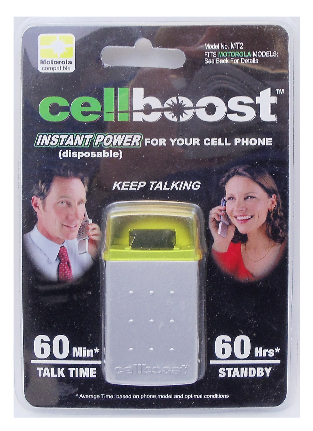 CELLBOOST PROVIDES INSTANT POWER UP TO 60 MINUTES TALK TIME & 60 HOURS STANDBY FOR MOTOROLA STAR TRACK & OTHER PHONES