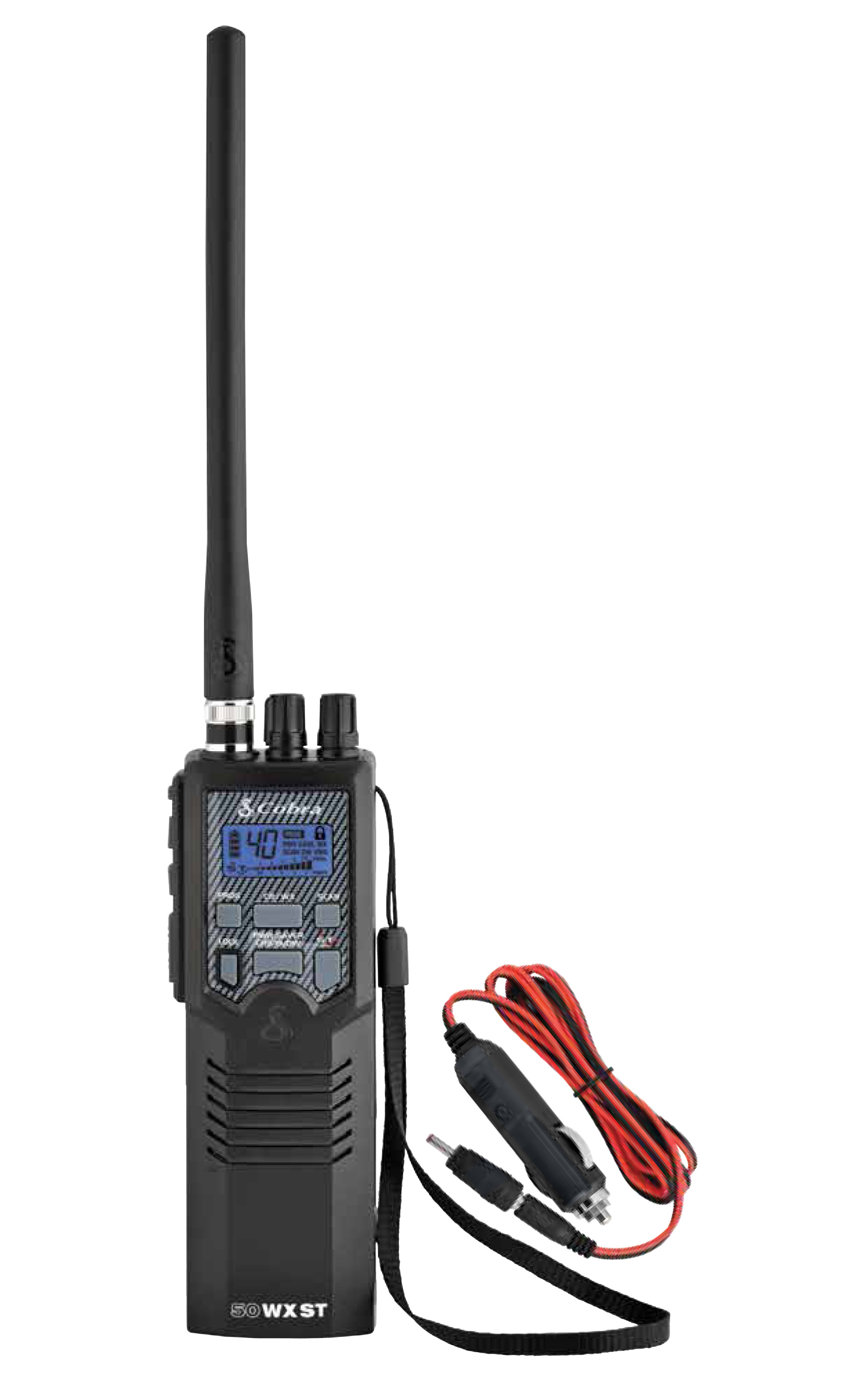 COBRA - HH50WXST HANDHELD CB RADIO WITH 10 NOAA WEATHER CHANNELS & DC CIGARETTE POWER CORD