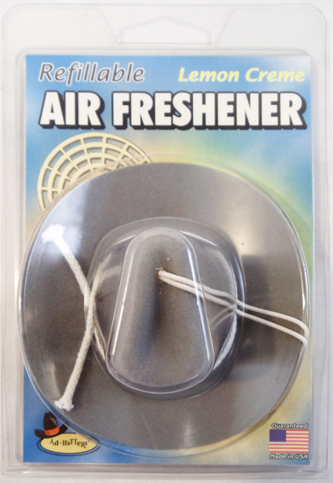 AD-HATTERS SILVER COWBOY HAT AIR FRESHEN