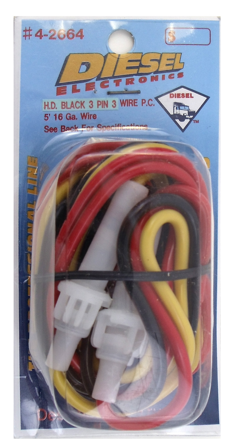 #4-2664 3 PIN STANDARD 3 WIRE POWER CORD