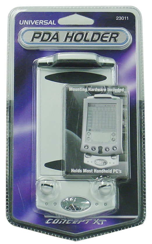 "CONCEPT XT - UNIVERSAL PDA & CELL PHONE HOLDER KEEPS ELECTRONICS UP TO 4-3/4"" TALL SECURE, MOUNTING HARDWARE INCLUDED"