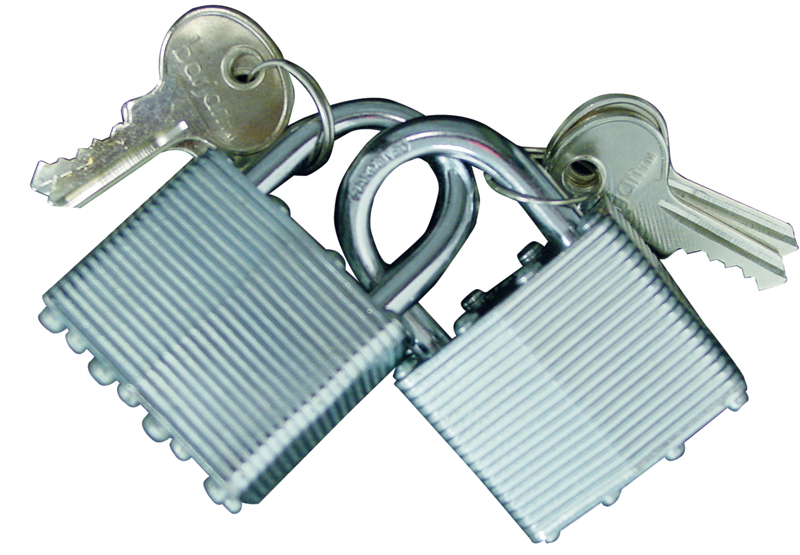 "1-1/2"" PADLOCKS W/KEYS - SET OF 2"