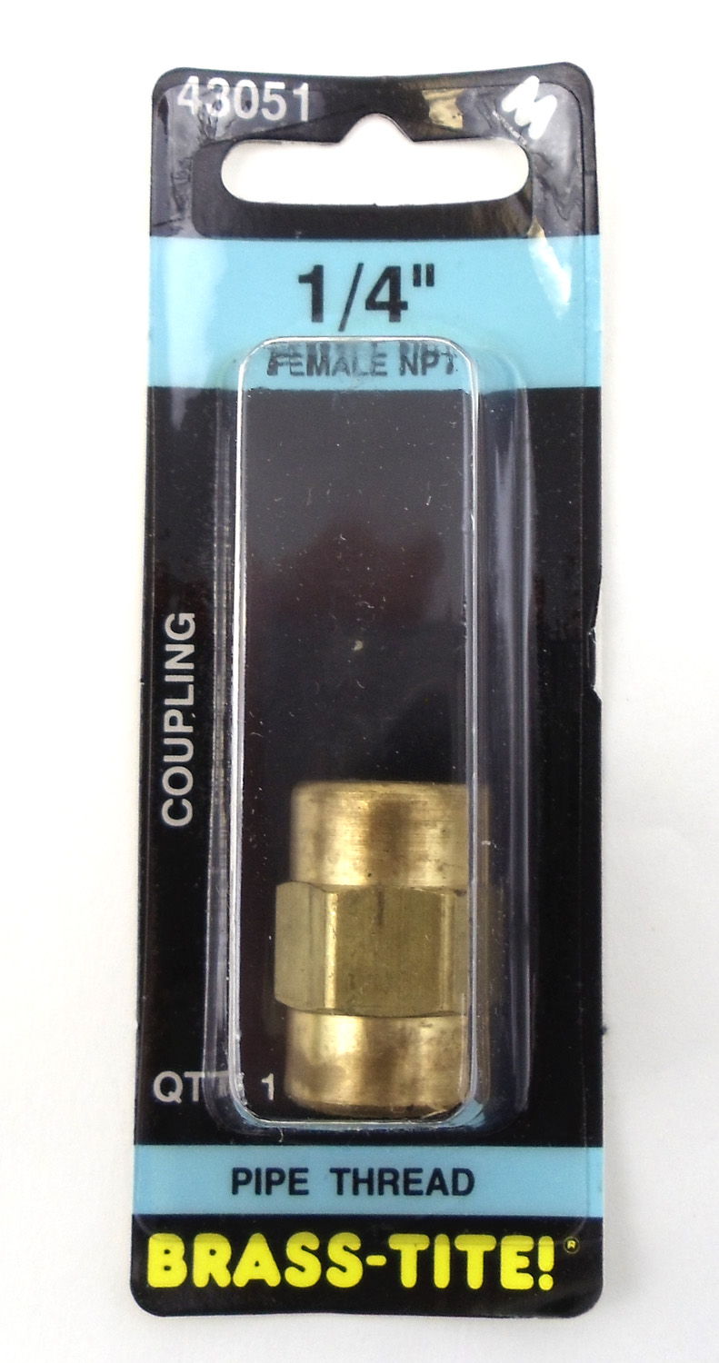 "1/4"" COUPLING (BRASS)"