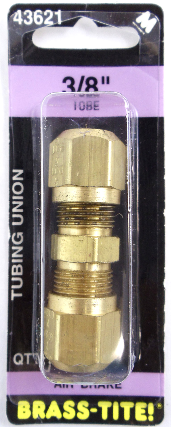 AIR BRAKE BRASS UNIONS 3/8""
