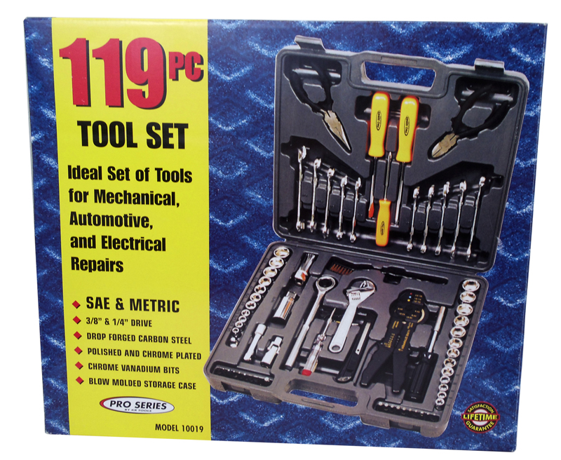 119 PC TOOL SET - SAE & METRIC