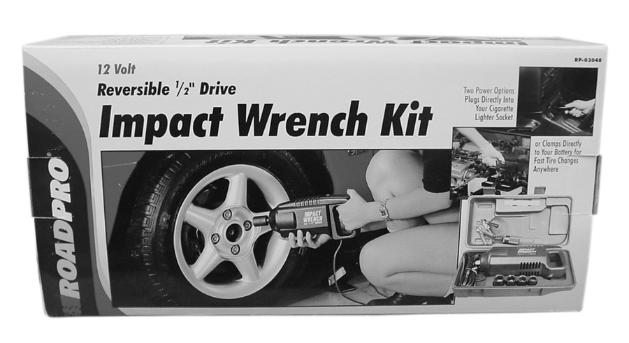 12V IMPACT WRENCH KIT W/EXTENSION