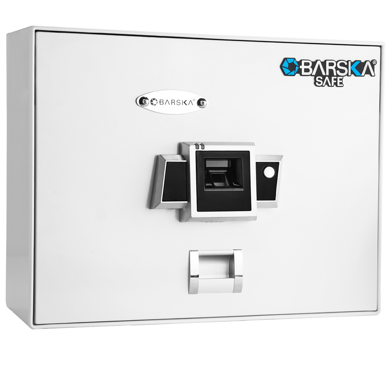 Barska BX200 Top Opening Biometric Security Safe-White