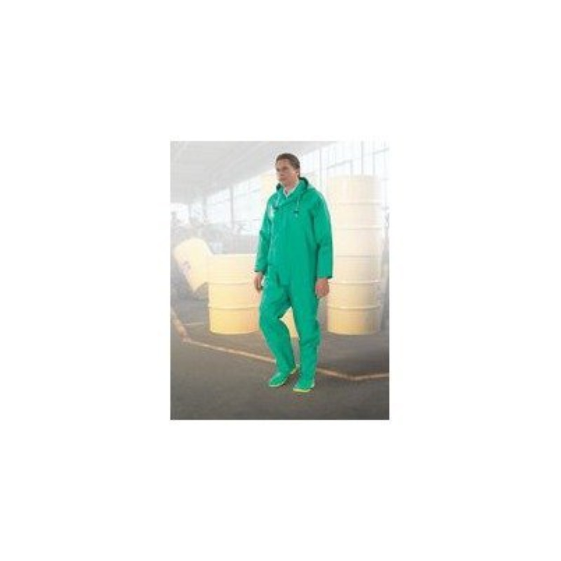 Bata/Onguard 2X Green Chemtex .35MM PVC On Nylon Polyester Bib Overall With Plain Front