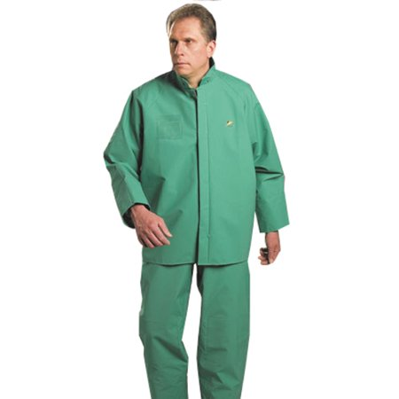 Bata/Onguard Extra Large Green Chemtex .35MM PVC On Nylon Polyester Bib Overall With Plain Front