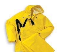 Bata/Onguard Medium Yellow Webtex .65mm Ribbed PVC On Polyester Webtex Rain Bib Overalls With Plain Front
